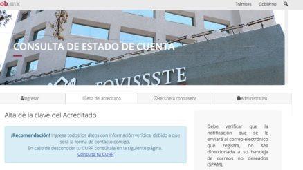 FOVISSSTE: Consulta y solicitud de créditos en línea 7