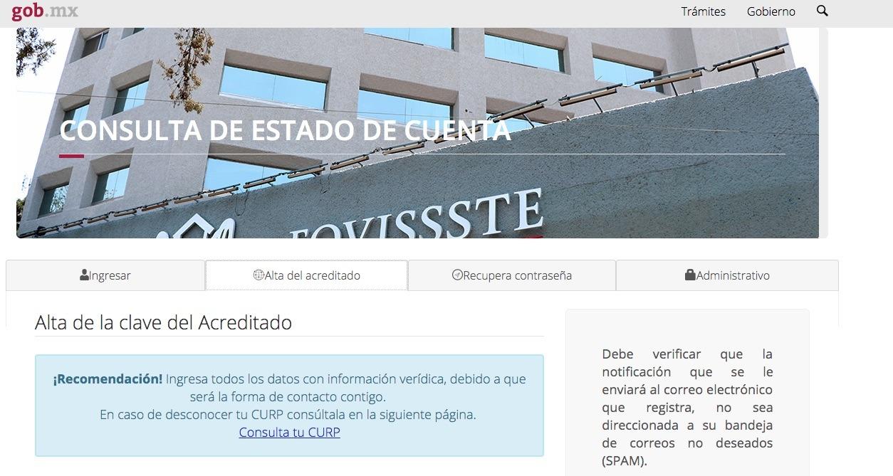 FOVISSSTE: Consulta y solicitud de créditos en línea 24