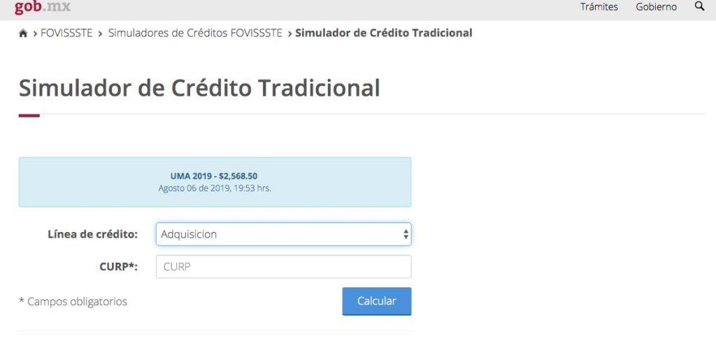 FOVISSSTE: Consulta y solicitud de créditos en línea 1