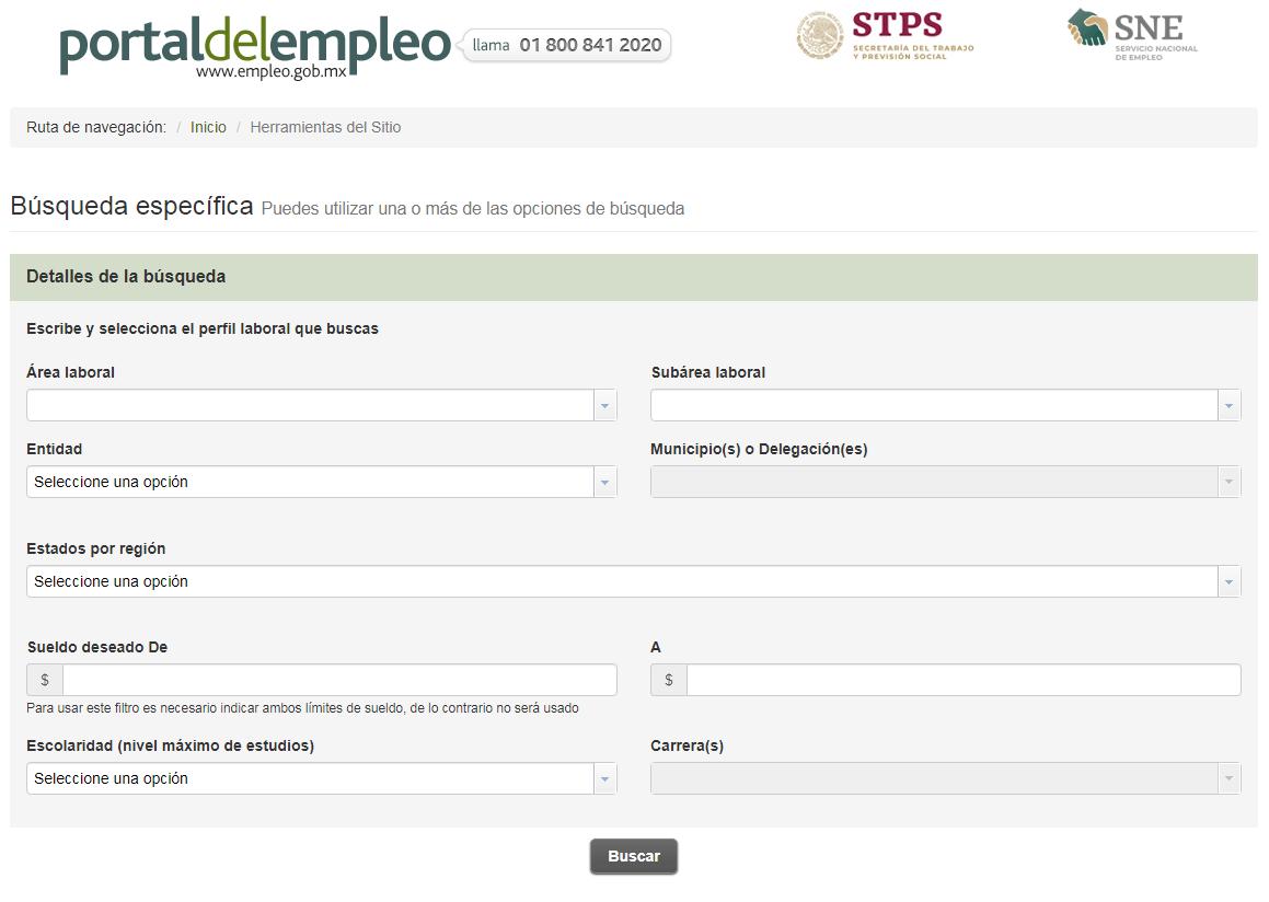 Cómo usar el Portal del Empleo de México para buscar trabajo 1