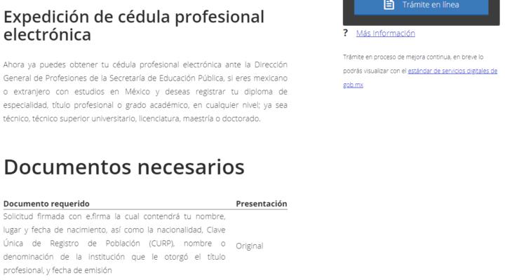 Cómo tramitar y consultar la Cédula Profesional Electrónica 1