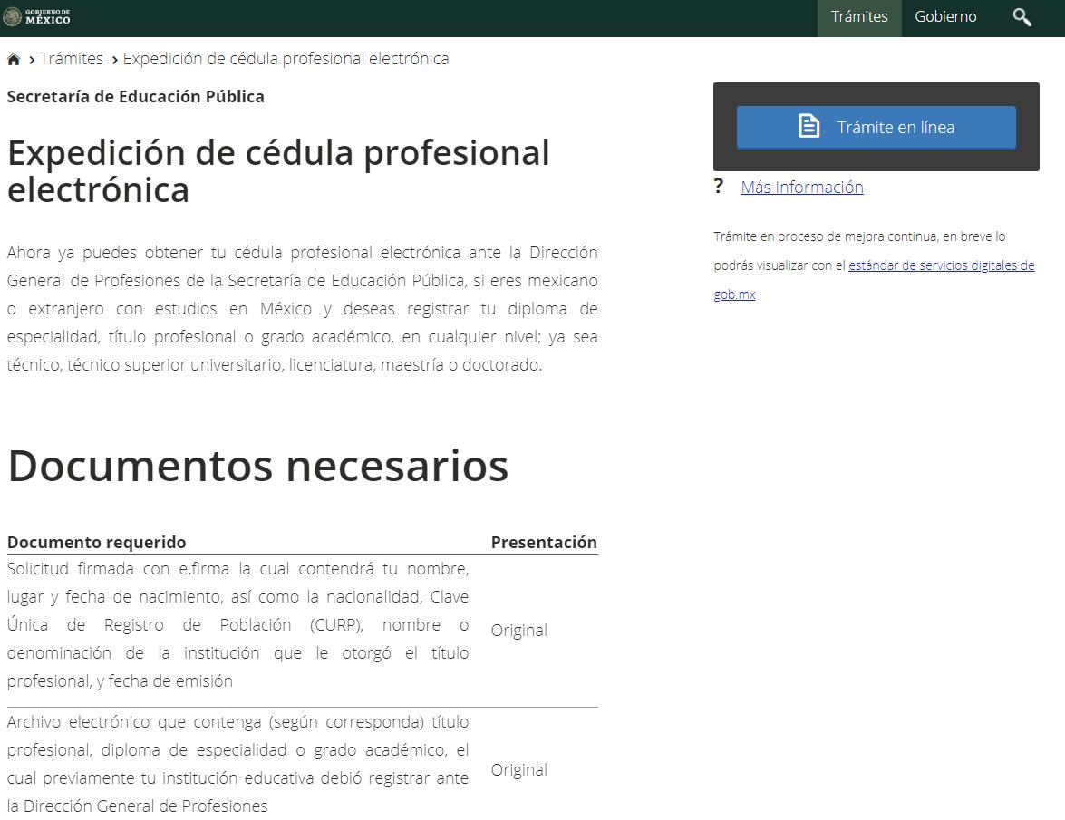 Cómo tramitar y consultar la Cédula Profesional Electrónica 19