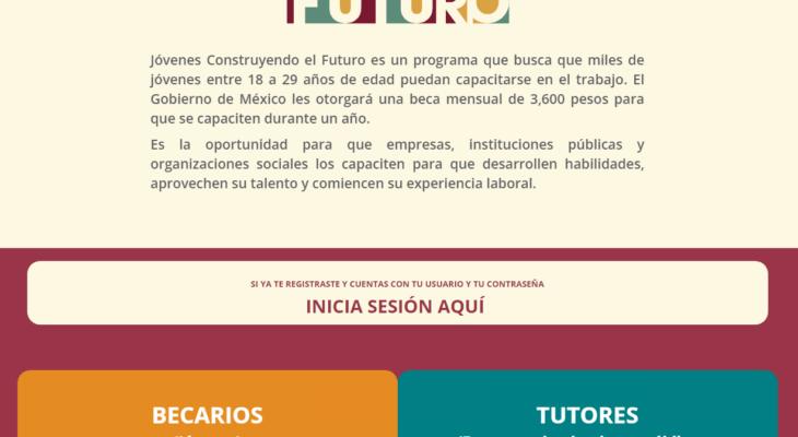 Inscripción al programa Jóvenes Construyendo el Futuro 1