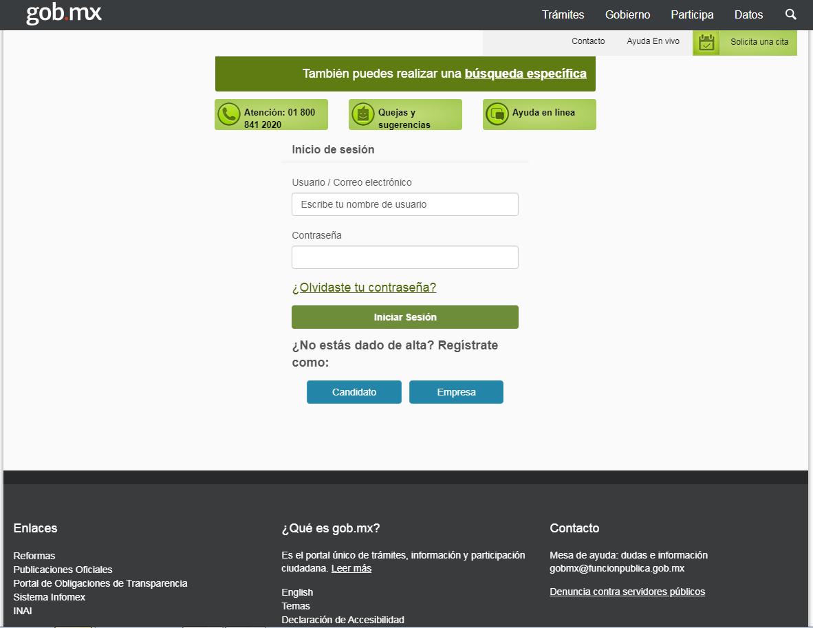 Cómo usar el Portal del Empleo de México para buscar trabajo 8