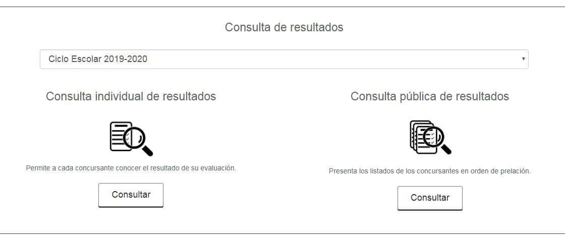Servicio profesional docente: Convocatorias y consulta de resultados 2
