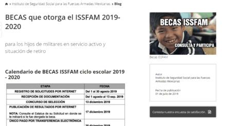 Cómo solicitar una beca en el ISSFAM y Calendario 3