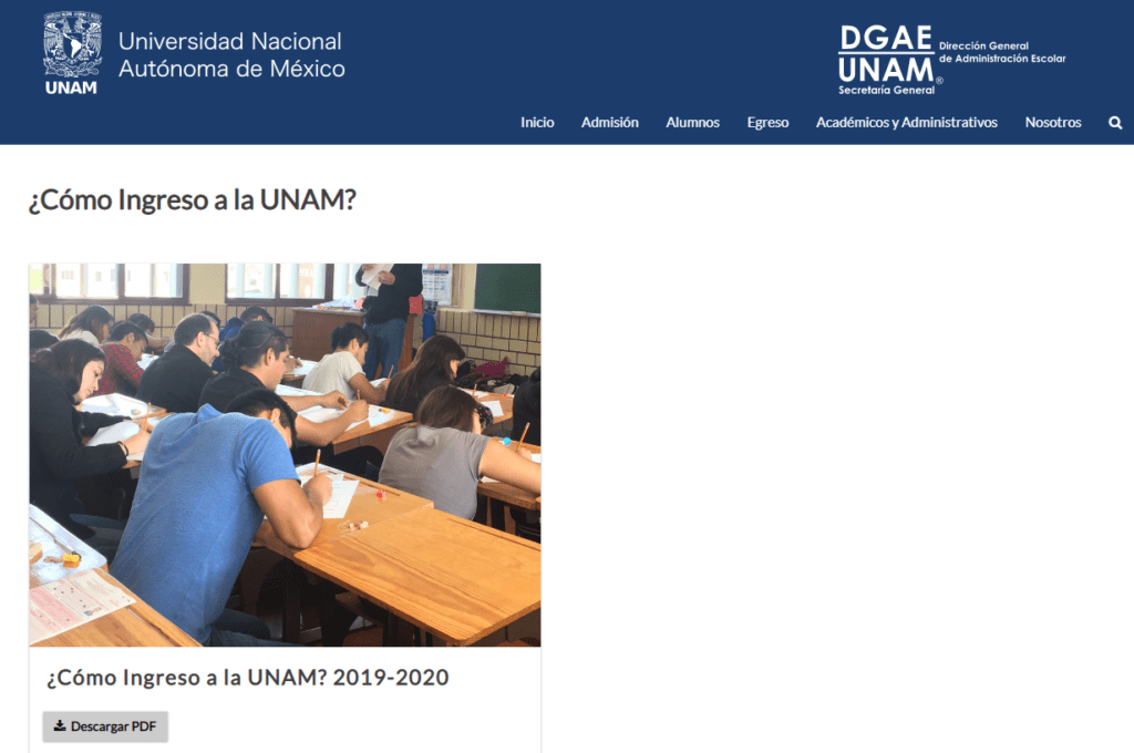 Requisitos para estudiar en la UNAM 3