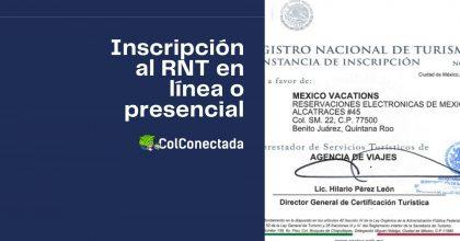 Proceso de inscripción en el Registro Nacional de Turismo