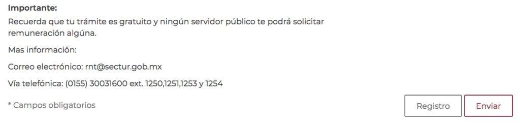 Proceso de inscripción en el Registro Nacional de Turismo 2