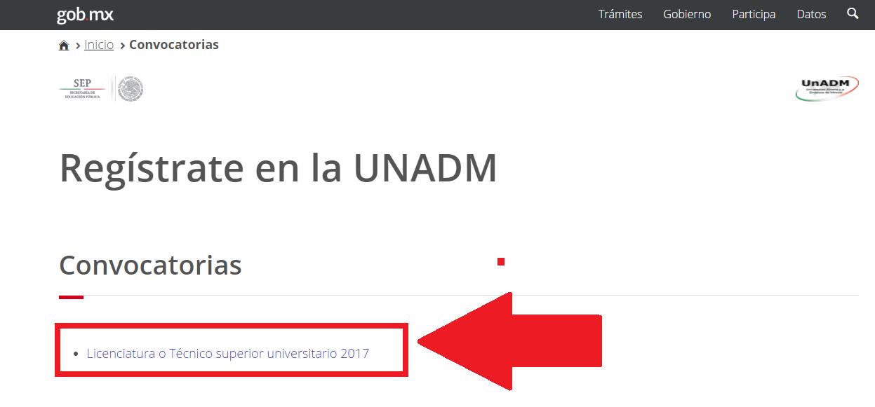 UNADM: Carreras en línea y proceso para realizar el registro 6