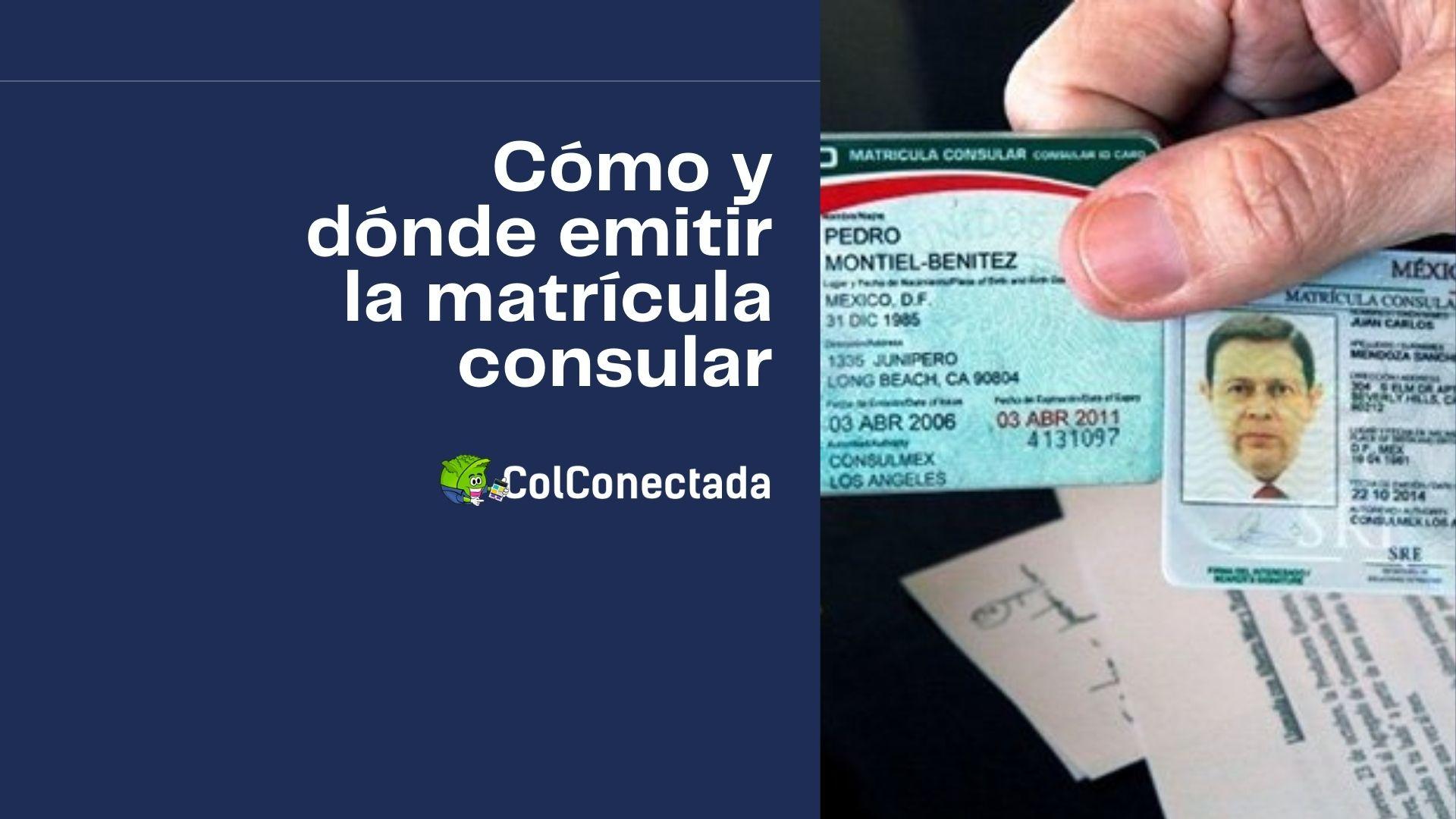 Requisitos para emitir el certificado de matrícula consular 6