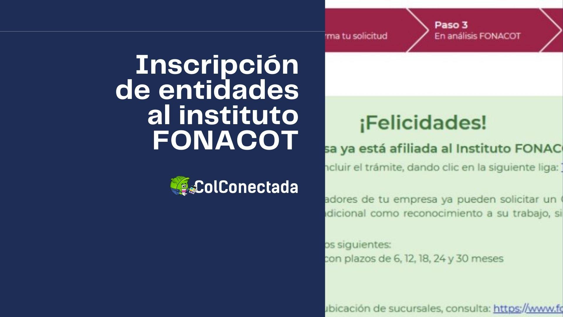 Pasos para gestionar la inscripción de entidades al INFONACOT 2