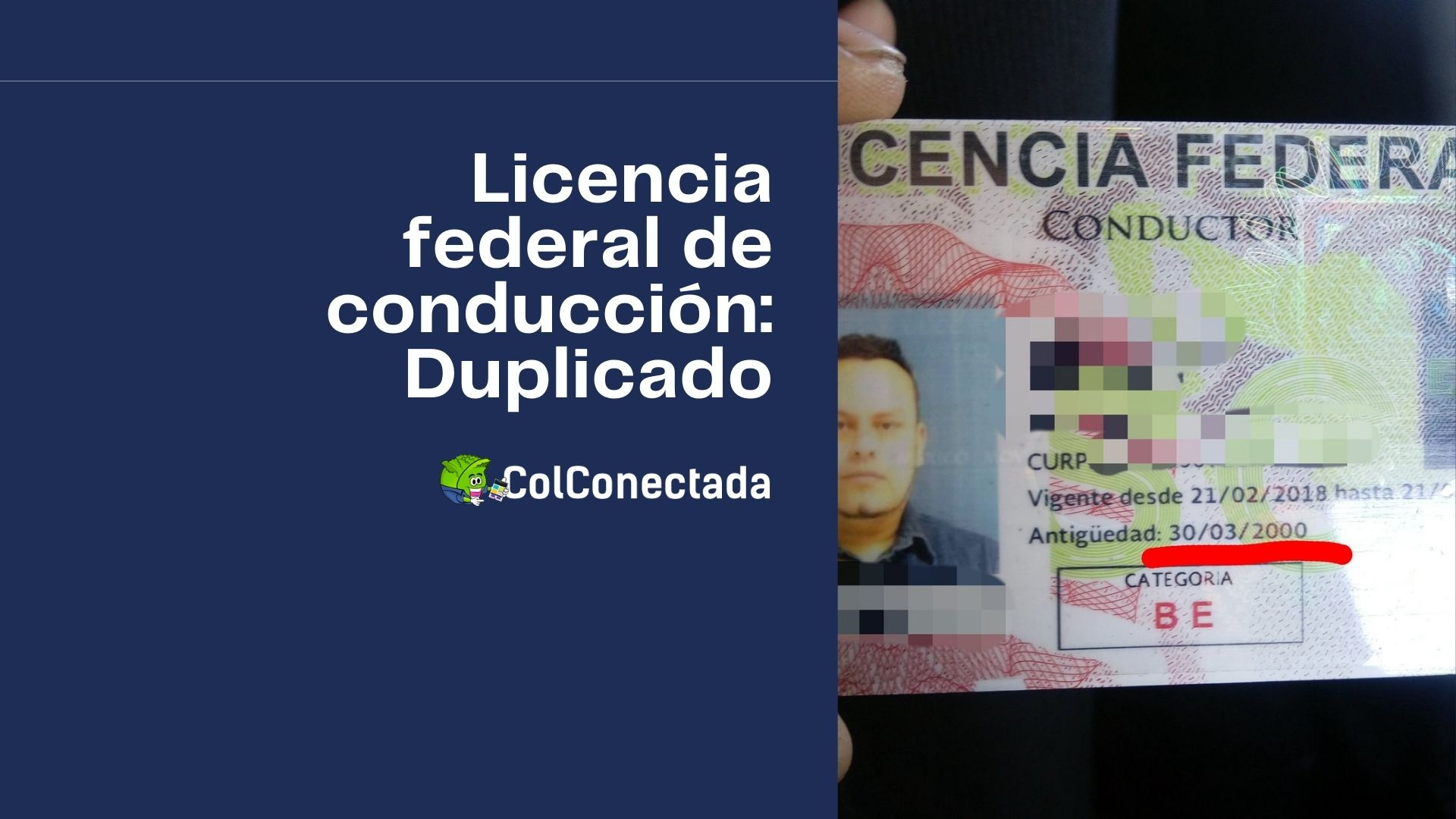 Pasos para solicitar el cambio de licencia federal a tipo E 1
