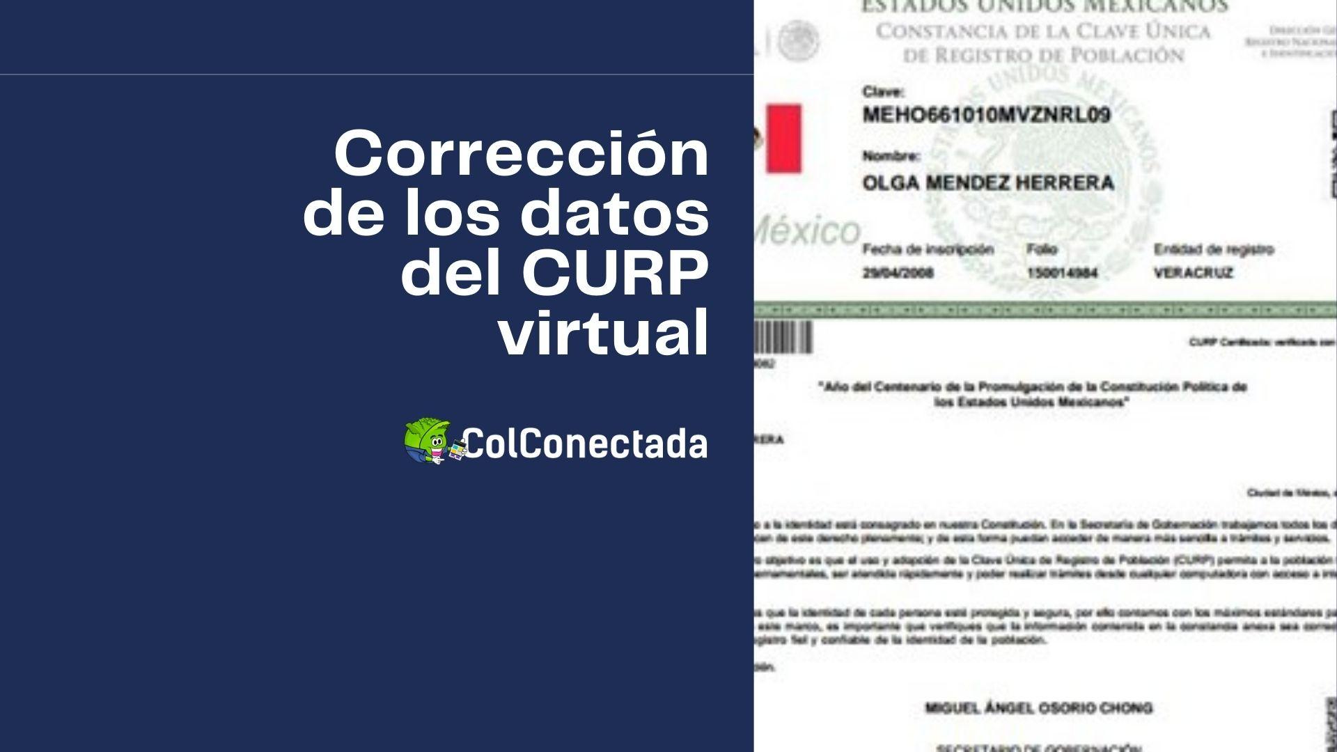 Cómo realizar la modificación de datos en la CURP 6