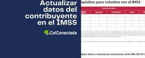 Cómo actualizar datos del asegurado o pensionado en el IMSS