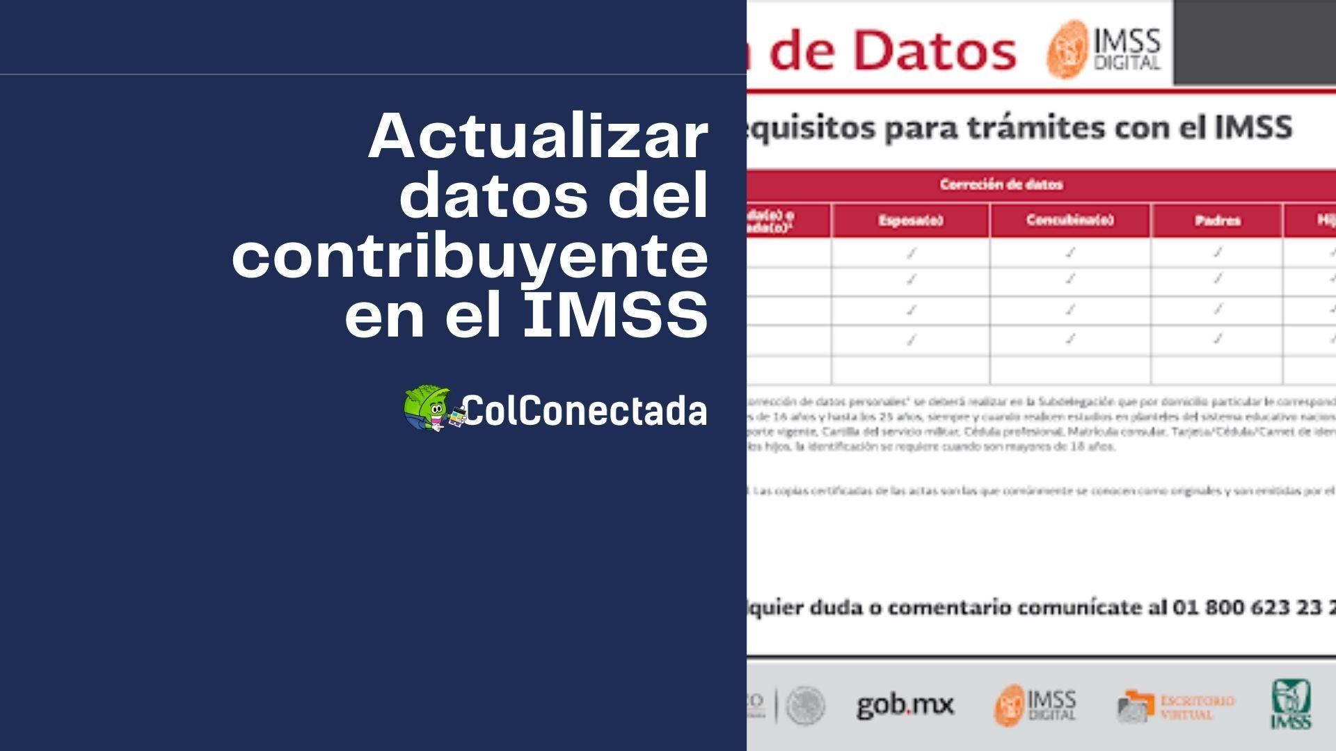 Cómo actualizar datos del asegurado o pensionado en el IMSS 9