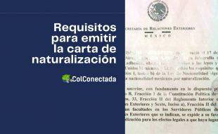 Emisión de la carta de naturalización para extranjeros