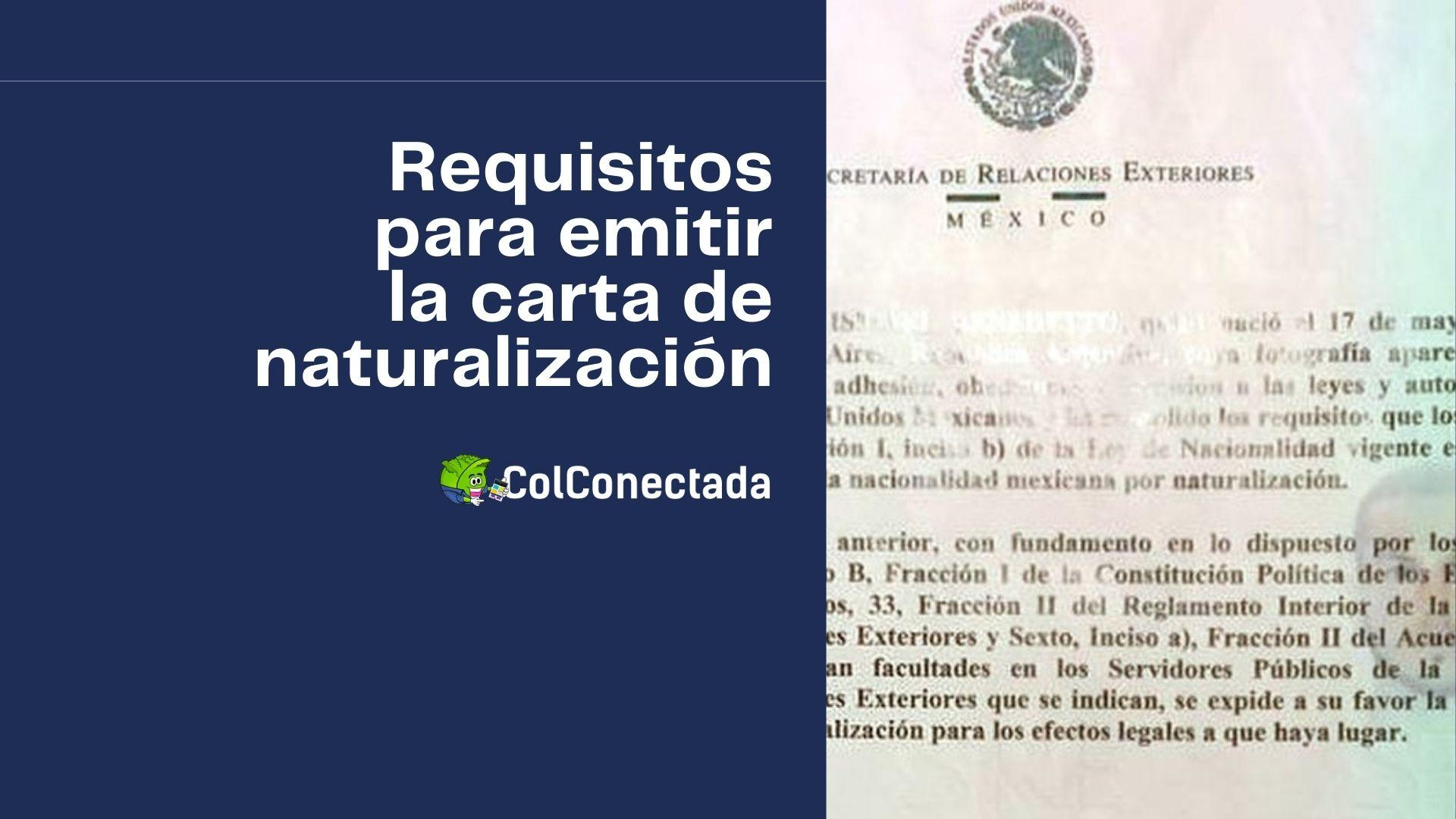 Emisión de la carta de naturalización para extranjeros 1