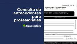 Cómo expedir el certificado de antecedentes profesionales