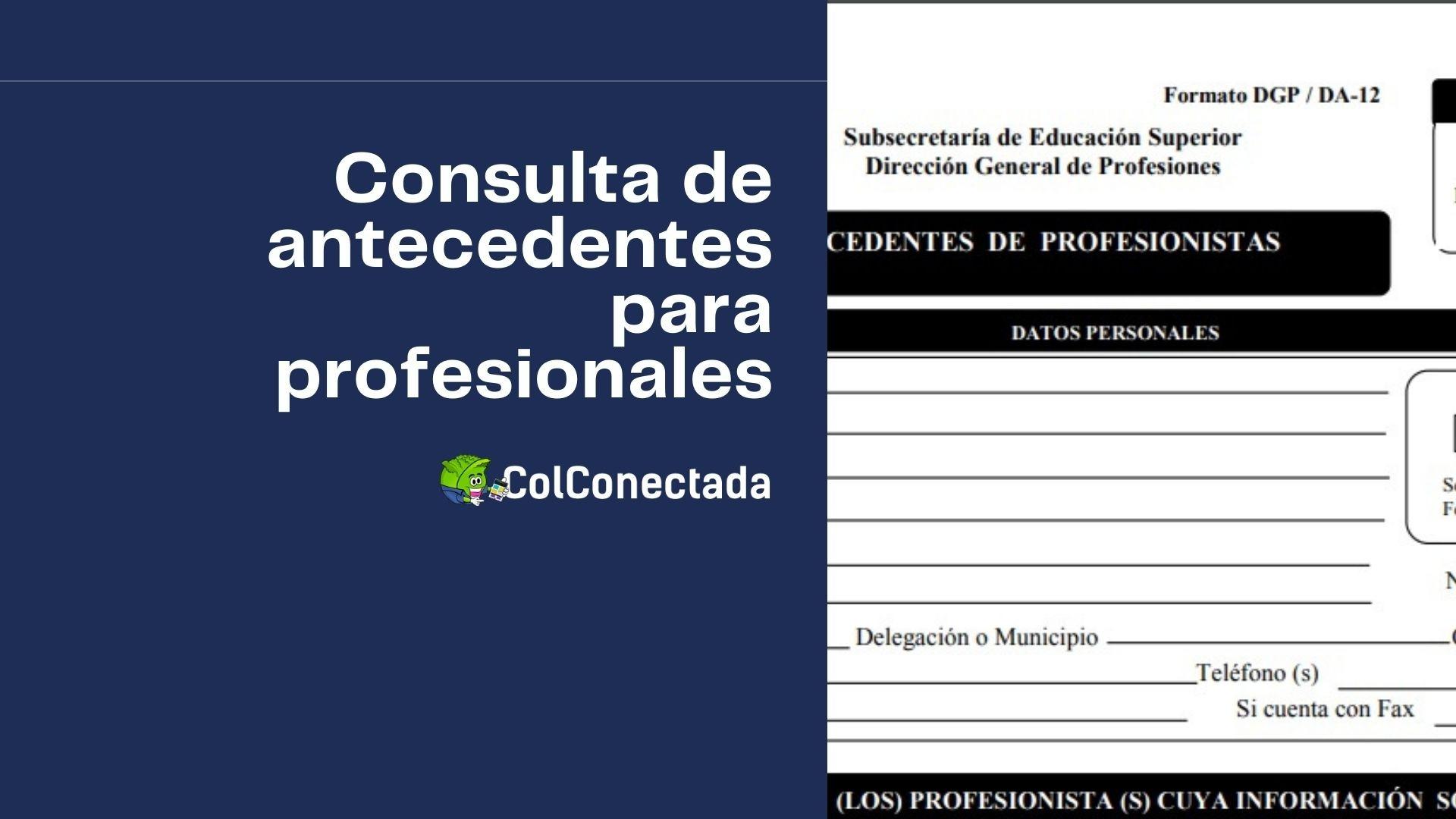 Cómo expedir el certificado de antecedentes profesionales 5