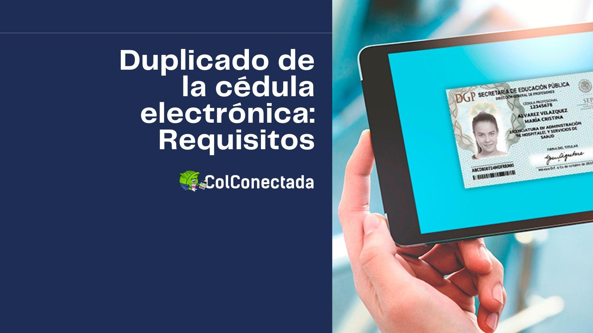 Solicitar el duplicado de la cédula profesional electrónica 12