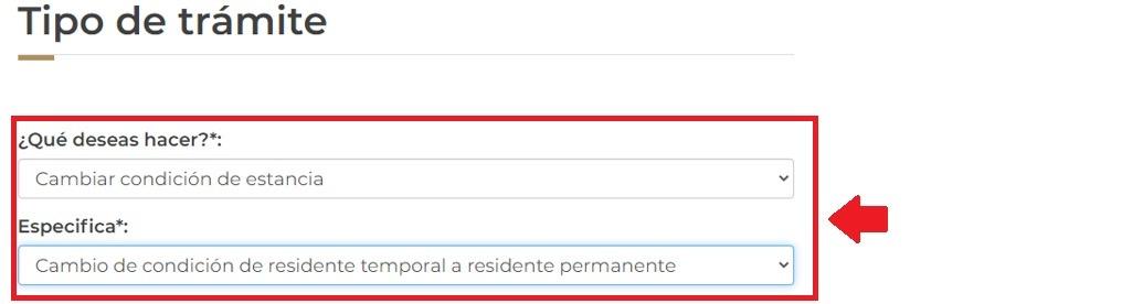 Solicitar el cambio de residencia temporal a permanente 2