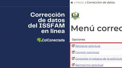 Requisitos para solicitar la actualización de datos en el ISSFAM