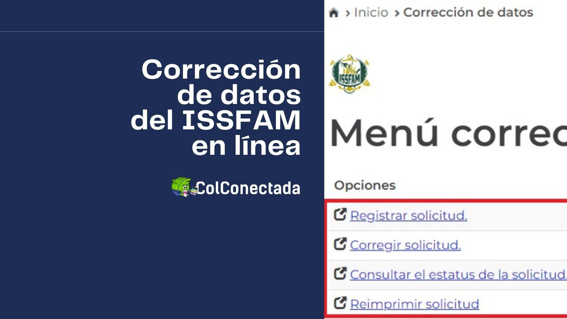 Requisitos para solicitar la actualización de datos en el ISSFAM 1