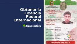 Cómo expedir la licencia federal con permiso internacional