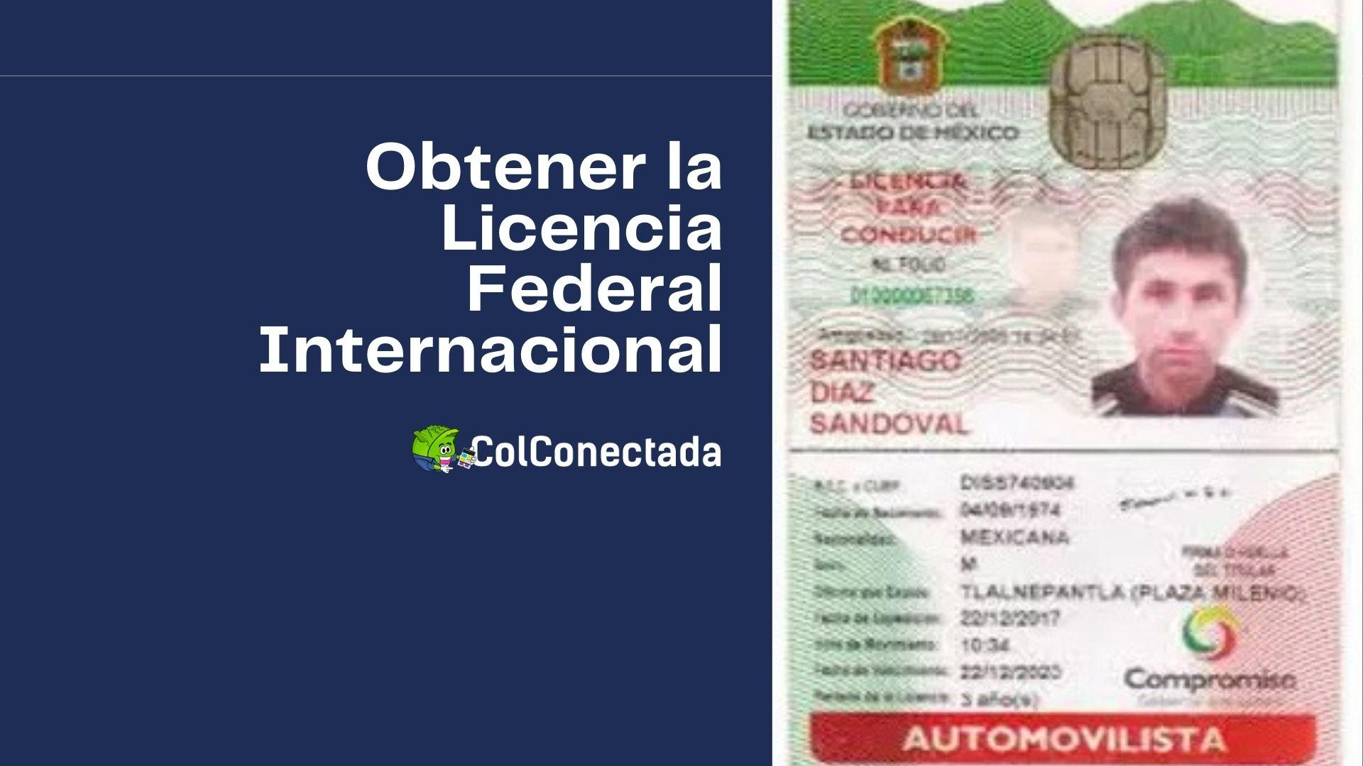 Cómo expedir la licencia federal con permiso internacional 9