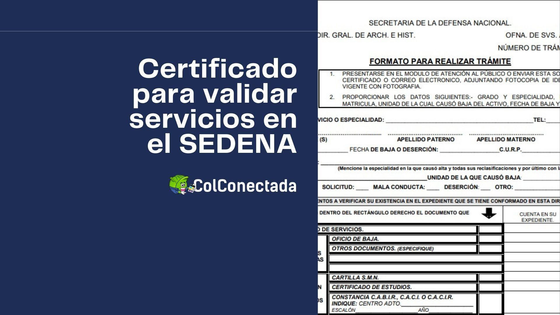 Pasos para solicitar el certificado de servicios en el SEDENA 1