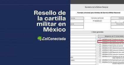 Cómo solicitar el resello de la cartilla militar en línea