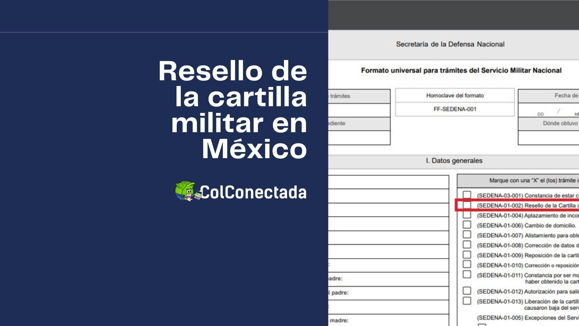 Cómo solicitar el resello de la cartilla militar en línea 8