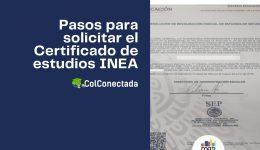 Cómo expedir el certificado de estudios en el INEA (Presencial)