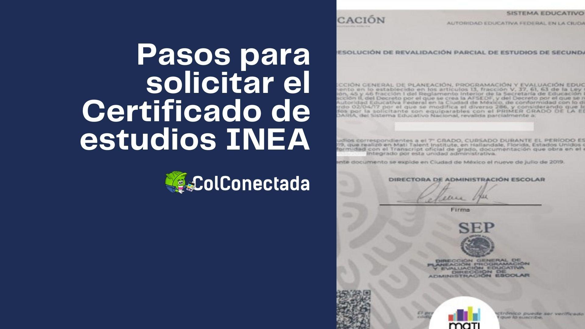 Cómo expedir el certificado de estudios en el INEA (Presencial) 4