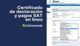 Cómo expedir la constancia de declaración y pagos en el SAT
