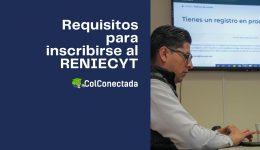 Proceso para realizar la inscripción al RENIECYT
