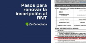 Requisitos para renovar la constancia de inscripción al RNT