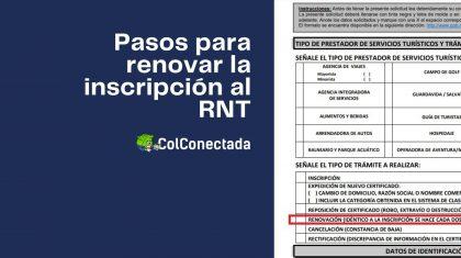 Requisitos para renovar la constancia de inscripción al RNT