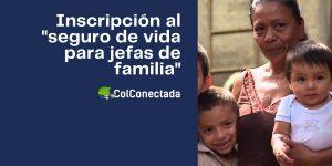 Afiliación al programa seguro de vida para jefas de familia